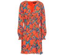 Eve Button-embellished Floral-print Crepe Mini Dress