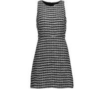 Metallic Tweed Mini Dress Schwarz