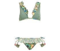 Vittoria Triangel-bikini mit Rüschen und Häkelbesatz
