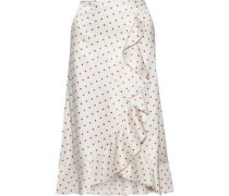 Dufort Polka-dot Silk-blend Charmeuse Skirt Ecru