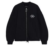 Jade Sequin-embellished Embroidered Cotton-fleece Bomber Jacket