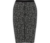 Knitted Wool-blend Pencil Skirt Schwarz