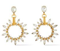 24 Kt. Verete Ohrringe mit Swarovski-kristallen