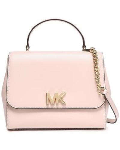 Leather Shoulder Bag Pastel Pink Size --