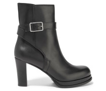 Opal Leather Ankle Boots Schwarz