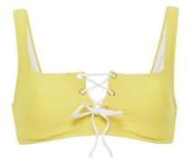 Bikini-oberteil aus Stretch-piqué mit Schnürung