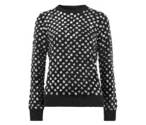 Sequin-embellished cashmere sweater