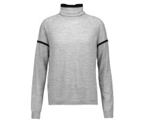 Betty Merino Wool-blend Turtleneck Sweater Grau