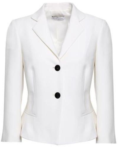 Wool-twill Blazer White