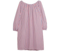 Lily striped cotton-piqué nightdress
