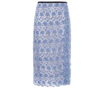 Grosgrain-trimmed Guipure Lace Skirt