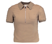 Stretch-jersey Polo Shirt Braun