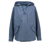 Denim Hooded Top Blau