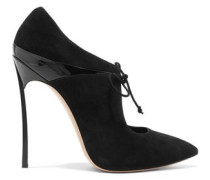 Suede and patent-leather pumps