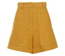 Lala Linen And Cotton-blend Twill Shorts