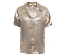 Metallic Silk-blend Shirt
