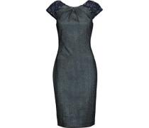 Embellished metallic jacquard dress