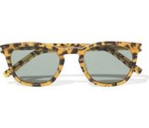 D-frame Leopard-print Acetate Sunglasses Animal Print Size --