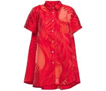 Grosgrain-trimmed Fil Coupé Chiffon Shirt