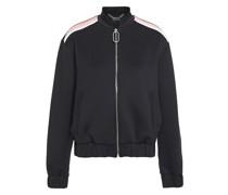 Josie Embellished Color-block Jersey Bomber Jacket