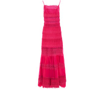 Crocheted Lace And Cotton-blend Voile Maxi Dress