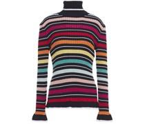 ausgestellter Pullover aus Rippstrick mit Streifen und Metallic-effekt