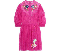 Leo embroidered lace dress