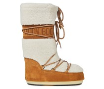 Lace-up Logo-print Shearling And Suede Snow Boots