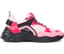 Curve Runner Sneakers aus Mesh, Veloursleder und Leder