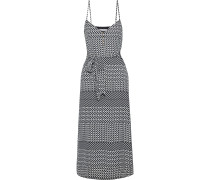 Shira Slip Dress in Midilänge aus Crêpe De Chine mit Print und Gürtel