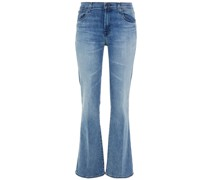 Sallie Faded Mid-rise Bootcut Jeans