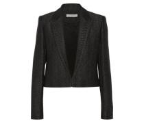 Toni cropped metallic wool-blend blazer
