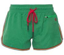 Gestreifte Shorts aus Vorgewaschenem Webstoff