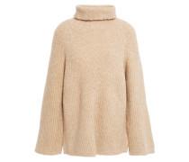 Bouclé-knit Merino Wool-blend Turtleneck Sweater