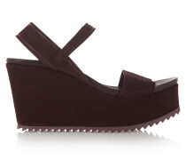 Dorothy Suede Wedge Sandals Merlot