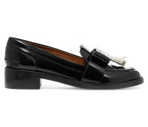 Hyde Glossed-leather Loafers Schwarz