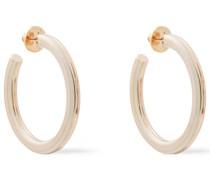 Ros Gold-tone Resin Hoop Earrings