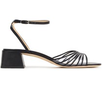 Anna Pvc-trimmed Leather Sandals