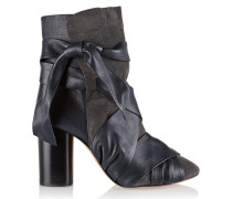 Azel Leather And Suede Ankle Boots Dunkelgrau