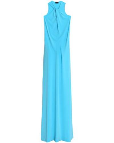 Twist-front Crepe Maxi Dress Azure