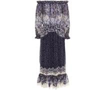 Elisa Off-the-shoulder Gathered Printed Georgette Midi Dress
