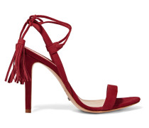 Maggie Lace-up Nubuck Sandals Bordeaux