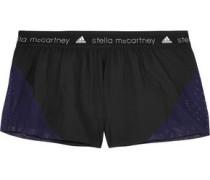 Mesh-paneled shell shorts