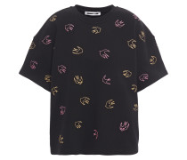 Embroidered French Cotton-terry Top