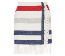 Titane Striped Wool-blend Mini Skirt Elfenbein