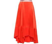 Silk Crepe De Chine Midi Skirt