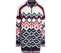 Intarsia-knit wool-blend sweater