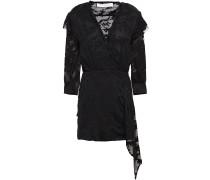 Famous Embroidered Cotton And Silk-blend Chiffon Mini Dress