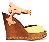 Patent-leather Wedge Sandals Pastellgelb