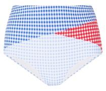 Sagaponack Hoch Sitzendes Bikini-höschen in Patchwork-optik mit Gingham-karo